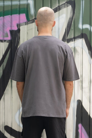 PEGADOR - Phoenix Oversized Tee Washed Grey - $49.95