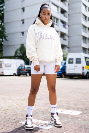 PEGADOR - Cali Oversized Hoodie Washed Vanilla - $74.95