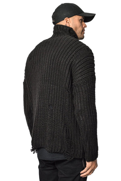 Hernan Knit Sweater Black - PEGADOR - Dominate the Hype