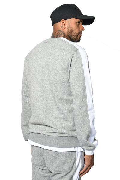 PEGADOR - David Stripe Sweater Grey Melange - PEGADOR - Dominate the Hype