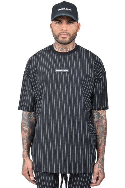 Geri Pinstripe T-Shirt Black - PEGADOR - Dominate the Hype