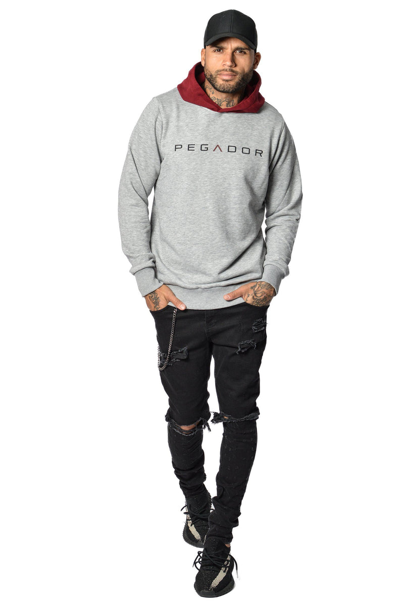 PEGADOR - Marvin Hoodie Grey Melange - PEGADOR - Dominate the Hype