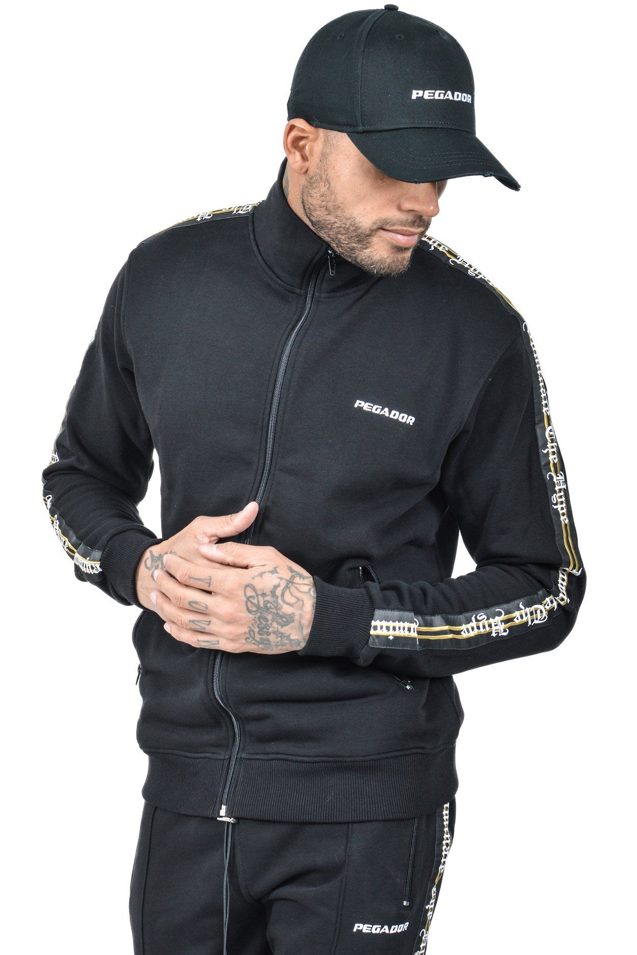 Plesto Sweat trackjacket Black SWEATER PEGADOR