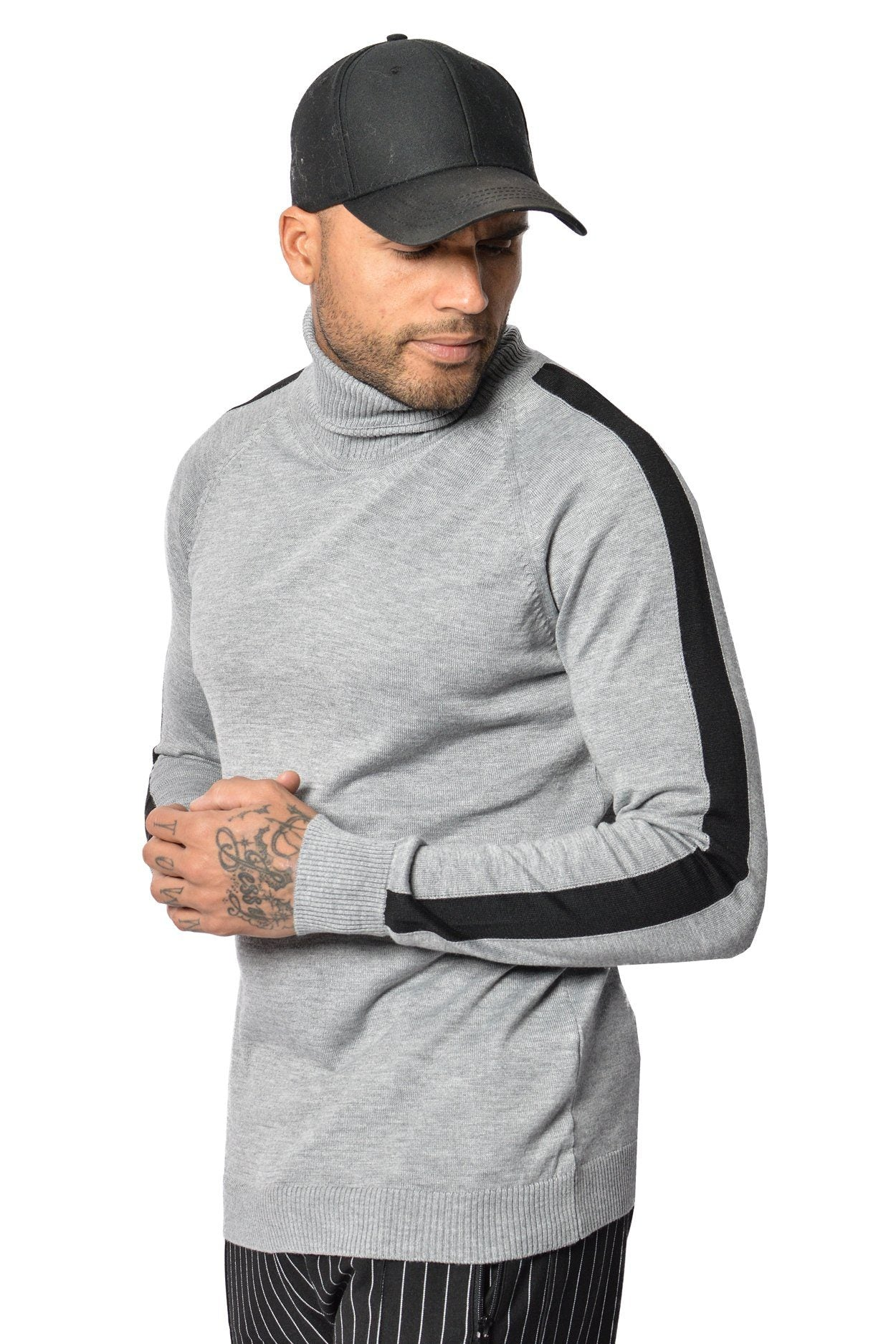 PEGADOR - Lui Turtleneck Grey Black - PEGADOR - Dominate the Hype
