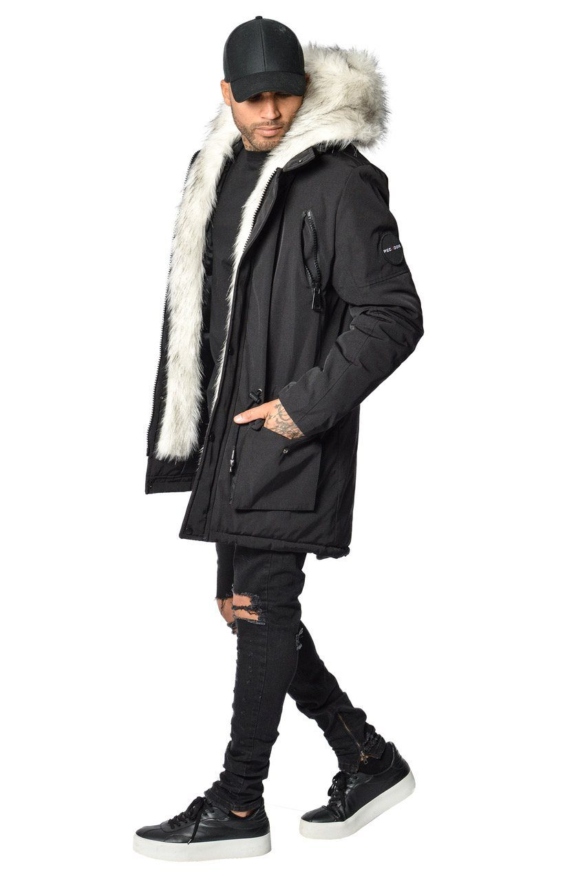 PEGADOR - Arctic Parka Black & White Fur - PEGADOR - Dominate the Hype