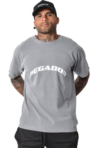 Craig Oversized T-Shirt Washed Grey - PEGADOR - Dominate the Hype