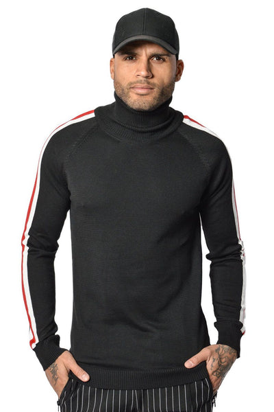 Lui Turtleneck Black Red/white - PEGADOR - Dominate the Hype
