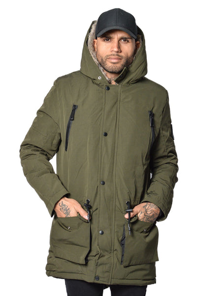 Arctic Parka Olive & Brown Fur - PEGADOR - Dominate the Hype