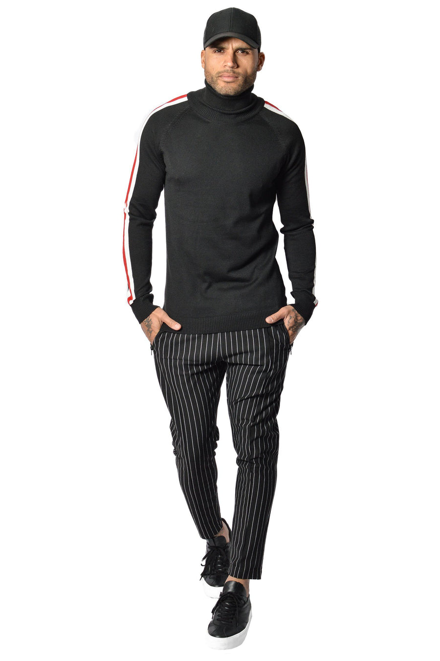 PEGADOR - Lui Turtleneck Black Red/white - PEGADOR - Dominate the Hype