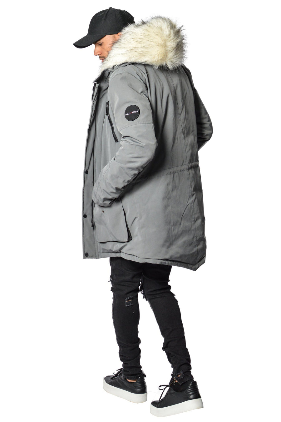 PEGADOR - Arctic Parka Space Grey & White Fur - PEGADOR - Dominate the Hype