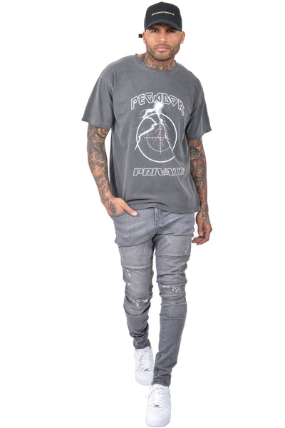 Jeay Oversized Tee Washed Black - PEGADOR - Dominate the Hype