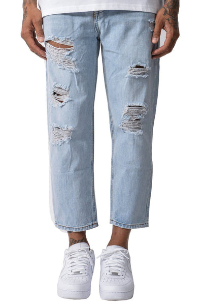 Dallas Destroyed boyfriend Jeans Light Blue - PEGADOR - Dominate the Hype