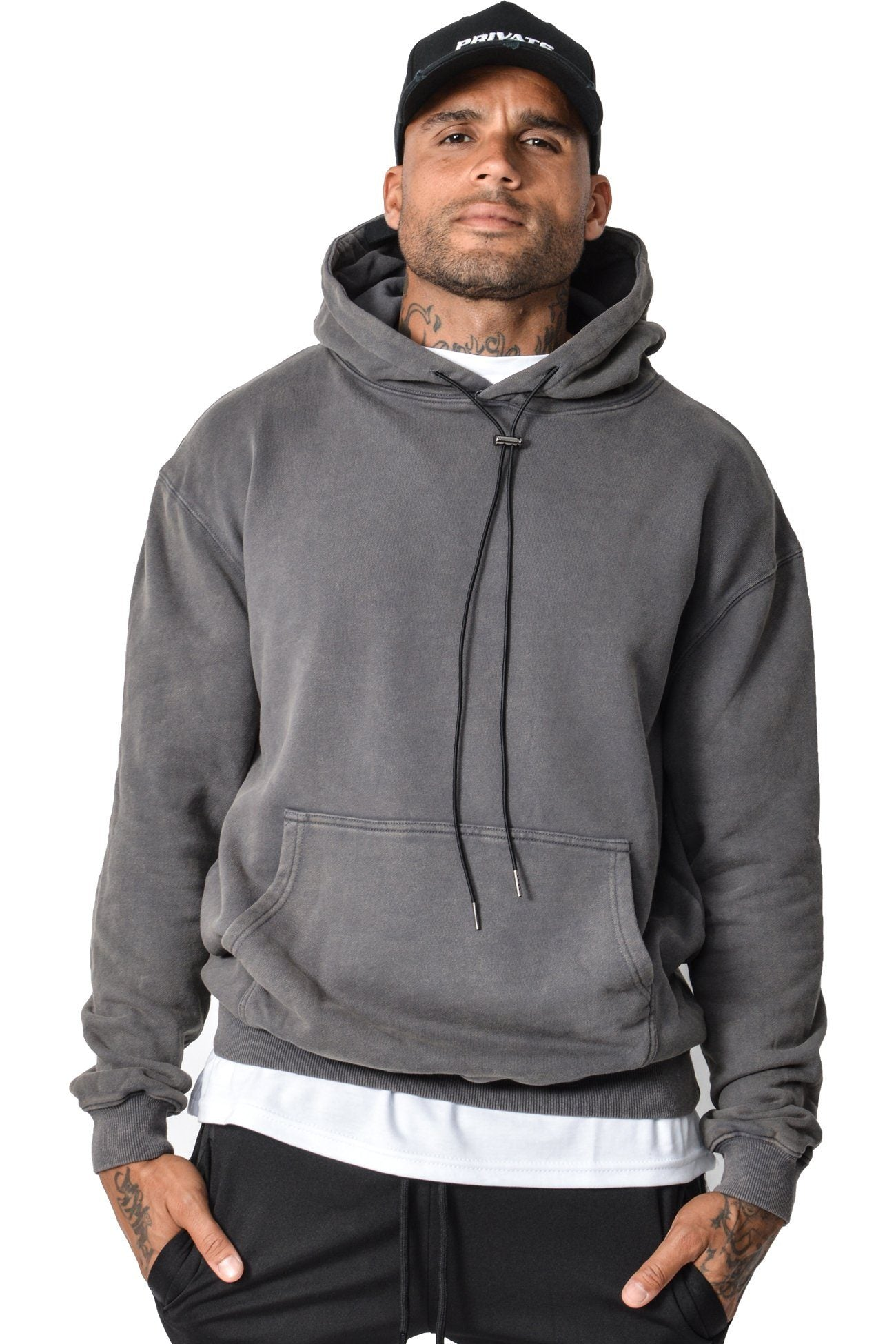 Basic Hoodie Washed Grey - PEGADOR - Dominate the Hype
