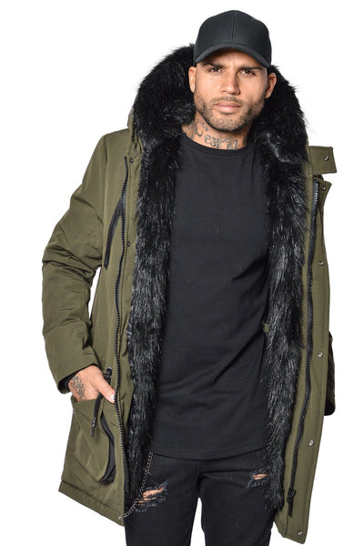 PEGADOR - Arctic Parka Olive & Black Fur - PEGADOR - Dominate the Hype