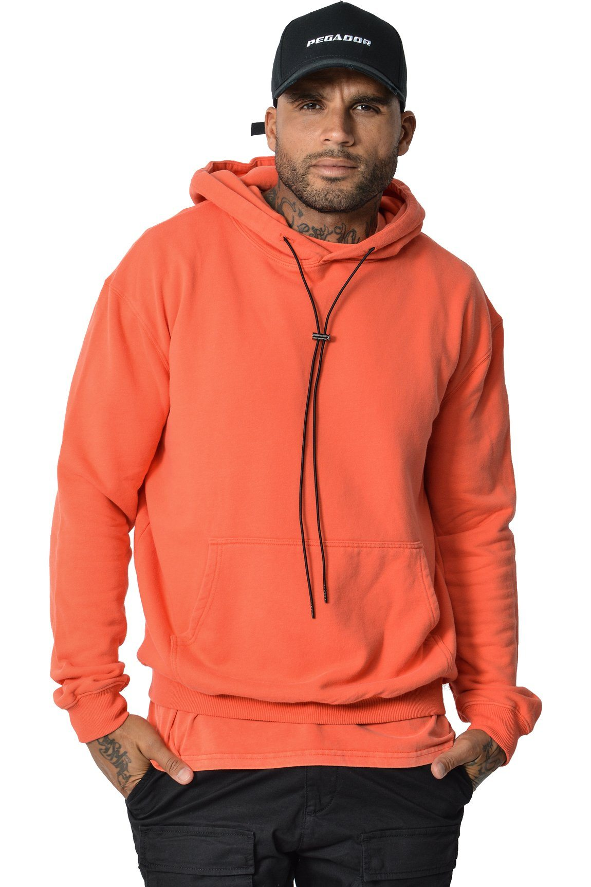 Basic Hoodie Washed Red HOODIES PEGADOR
