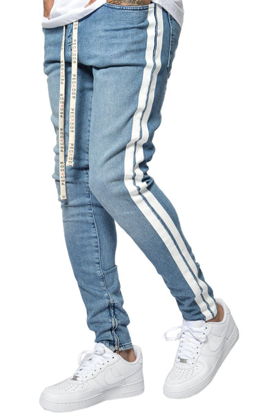 PEGADOR - Bobson Clean Stripe Denim Blue - PEGADOR - Dominate the Hype