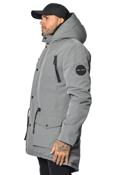 Arctic Parka Space Grey & Black Fur - PEGADOR - Dominate the Hype