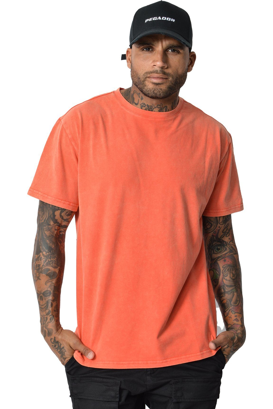 Basic T-Shirt Washed Red - PEGADOR - Dominate the Hype