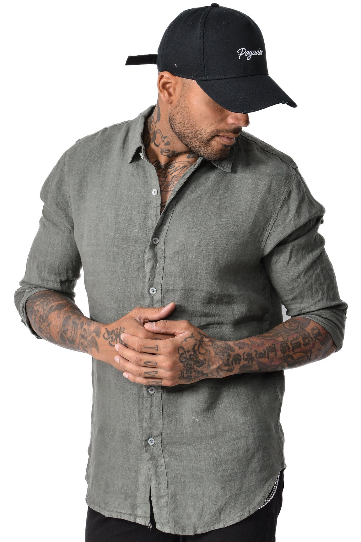 San Diego Linen Shirt Army - PEGADOR - Dominate the Hype