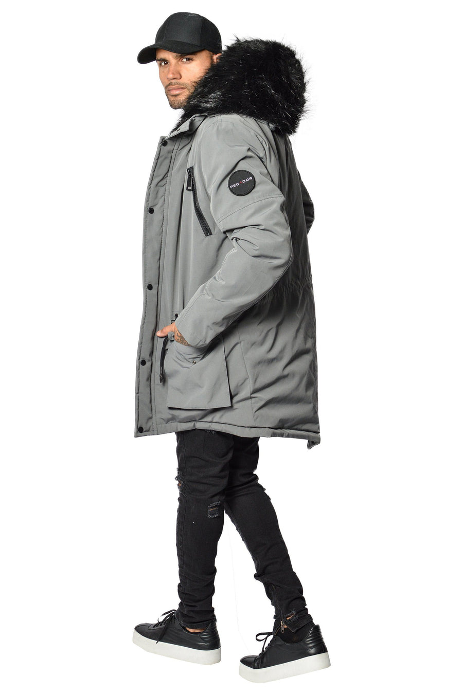 PEGADOR - Arctic Parka Space Grey & Black Fur - PEGADOR - Dominate the Hype