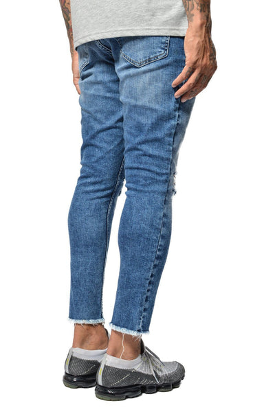 Rico Cropped Denim Sand washed Blue - PEGADOR - Dominate the Hype
