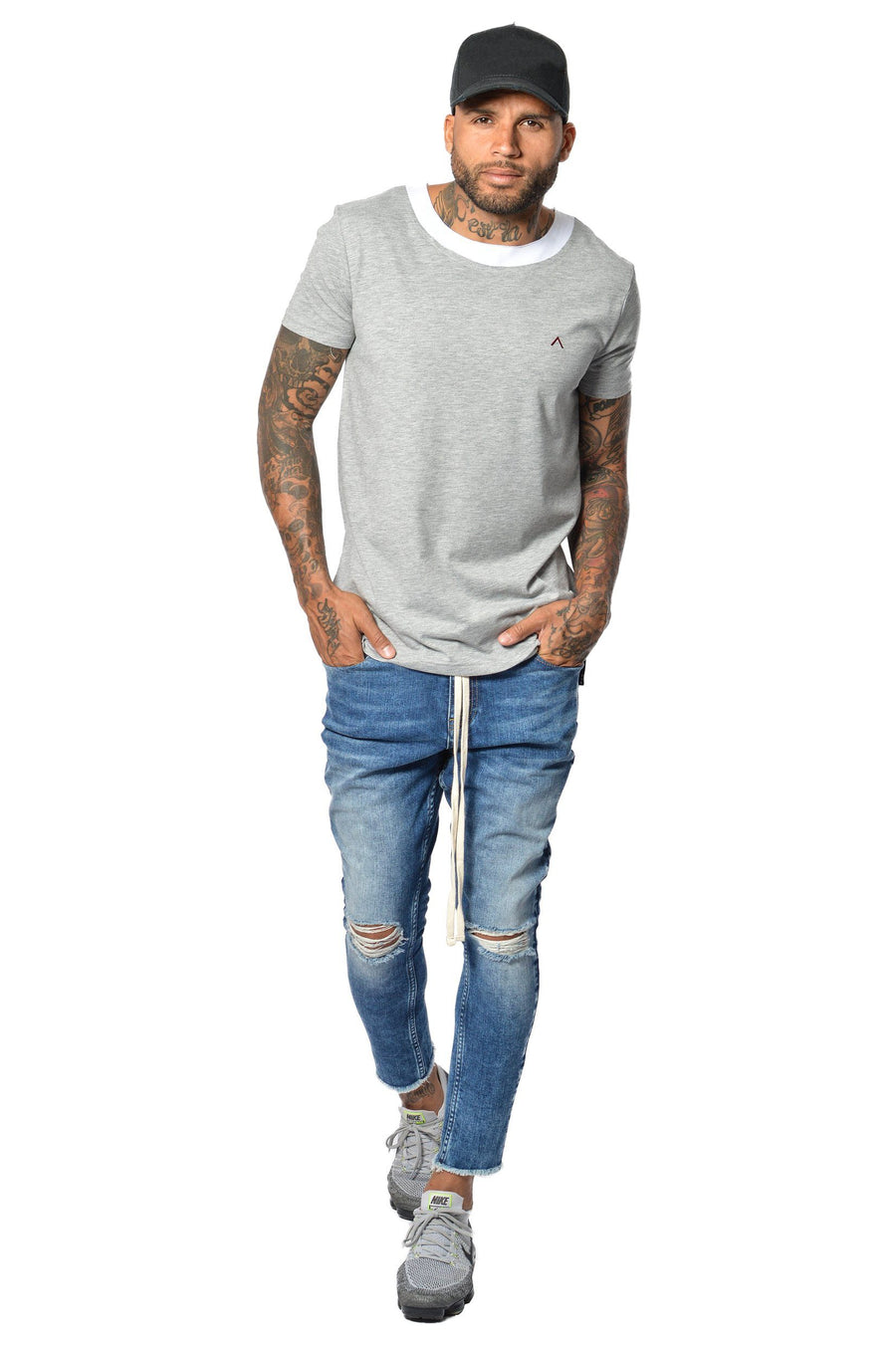 PEGADOR - Rico Cropped Denim Sand washed Blue - PEGADOR - Dominate the Hype