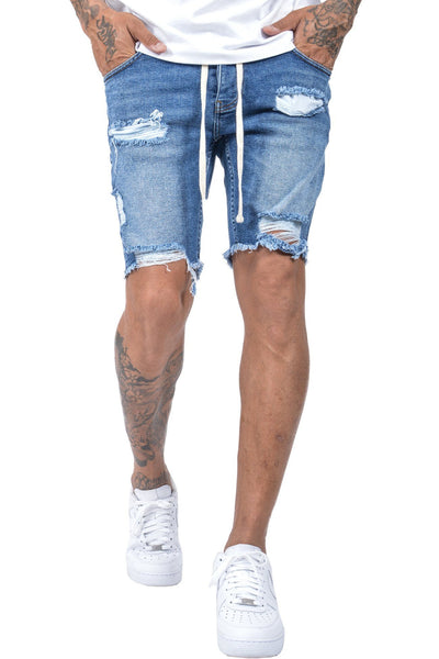 Cordoba Shorts Destroyed Mid Blue - PEGADOR - Dominate the Hype