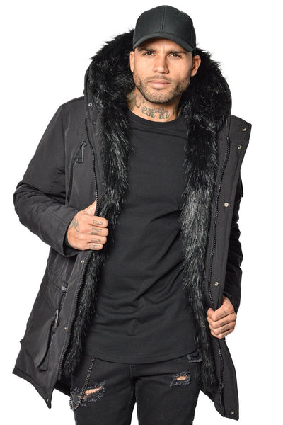 Arctic Parka Black & Black Fur - PEGADOR - Dominate the Hype