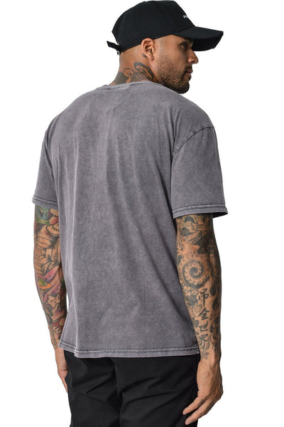 Basic T-Shirt Washed Grey - PEGADOR - Dominate the Hype