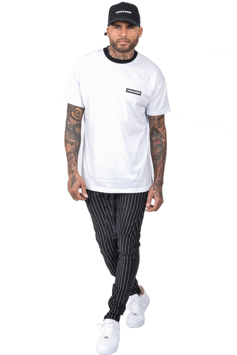 Benjamin Pinstripe Pants Black White - PEGADOR - Dominate the Hype