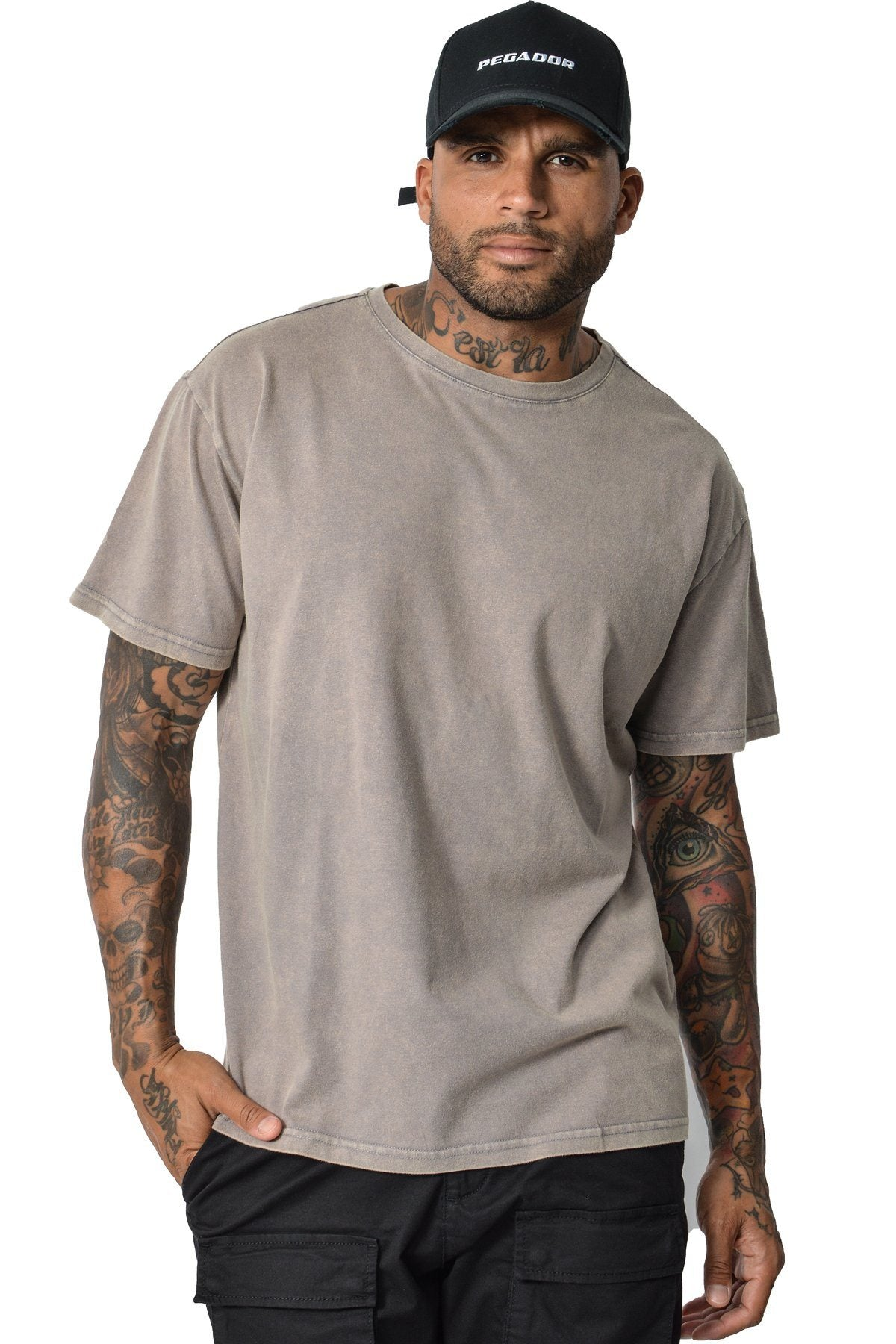 Basic T-Shirt Washed Sand T-Shirt PEGADOR
