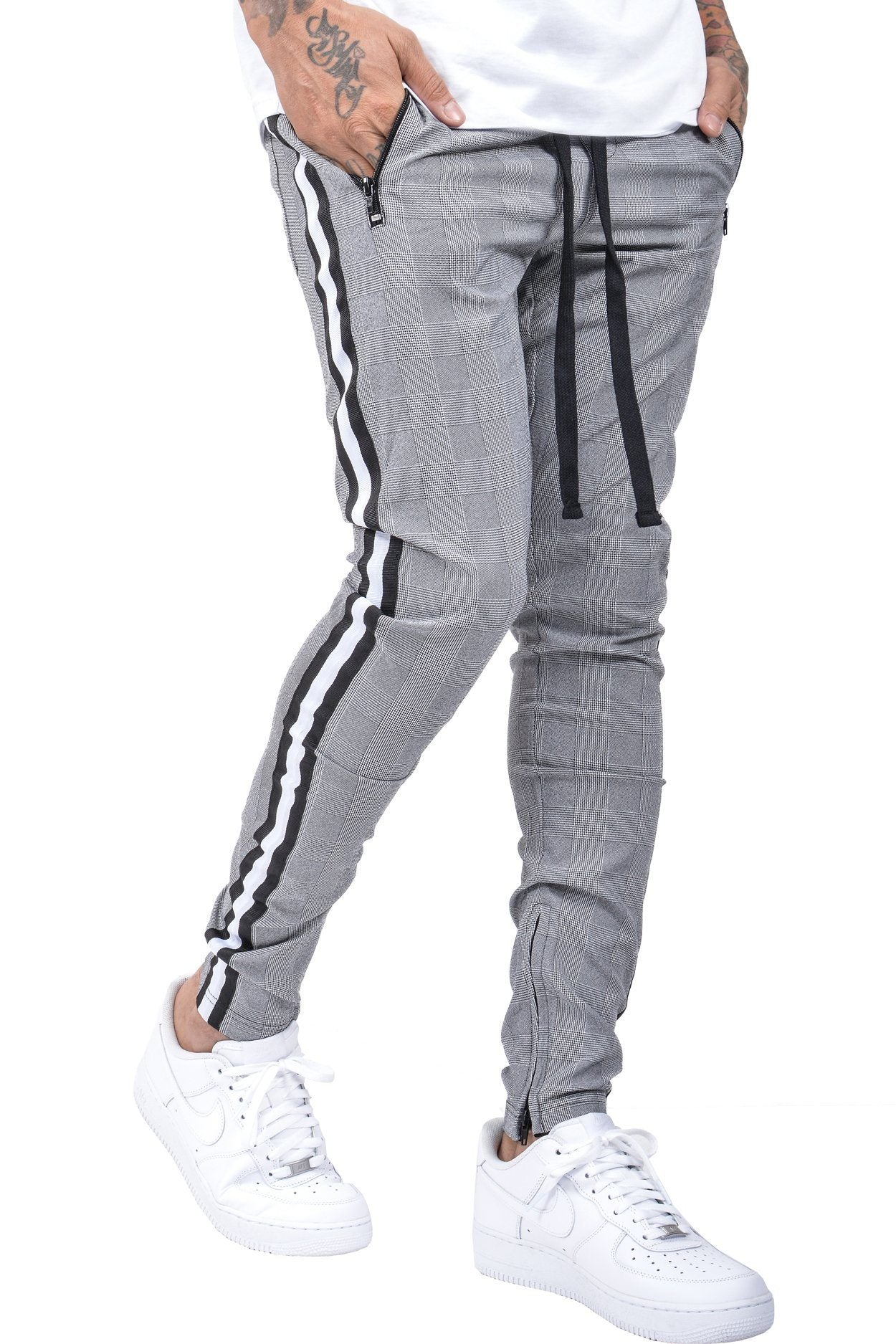Benjamin Stripe Pants Checkered Black - PEGADOR - Dominate the Hype