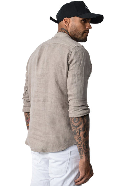 Houston Linen Shirt Charcoal - PEGADOR - Dominate the Hype