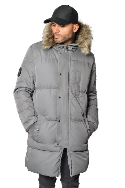 Lonzo Puffer Parka Grey - PEGADOR - Dominate the Hype