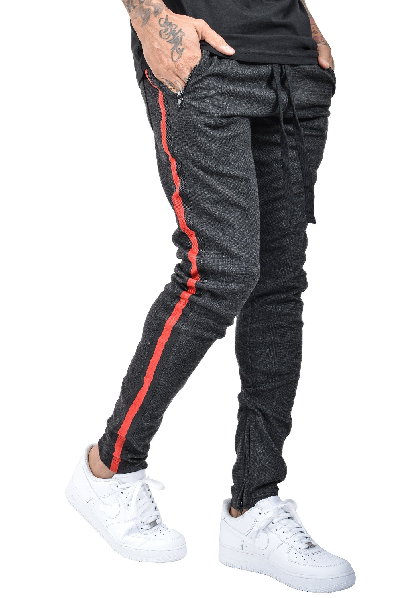 Benjamin Stripe Pants Antra-Black Red - PEGADOR - Dominate the Hype