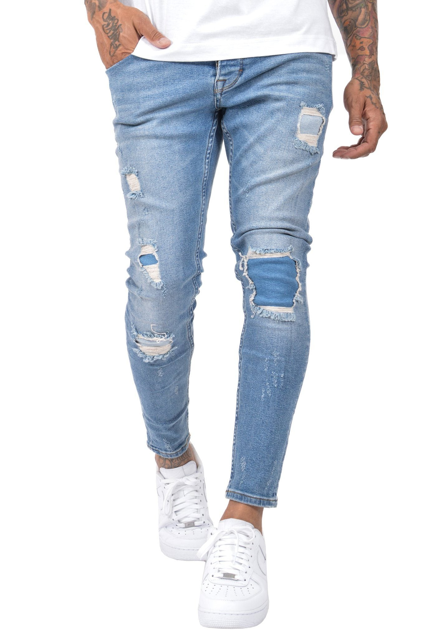 Murcia Repairer Jeans Sand Blue