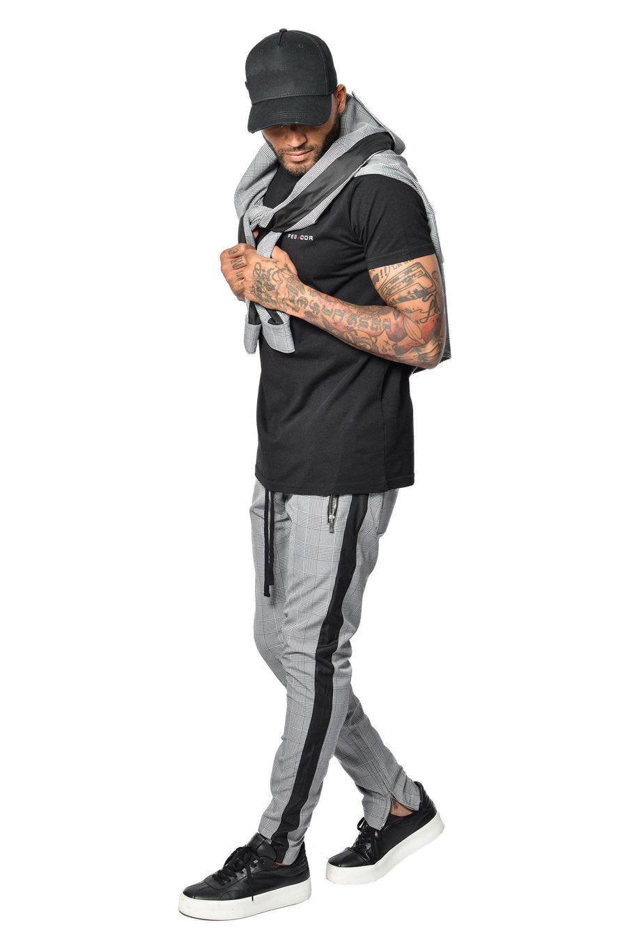 Lucio Trackpants Black/Grey Checkered