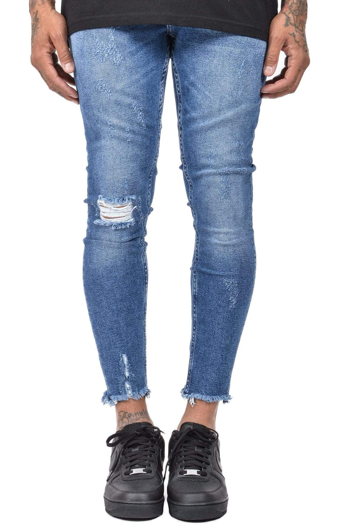 Valencia Cropped Jeans Mid Blue
