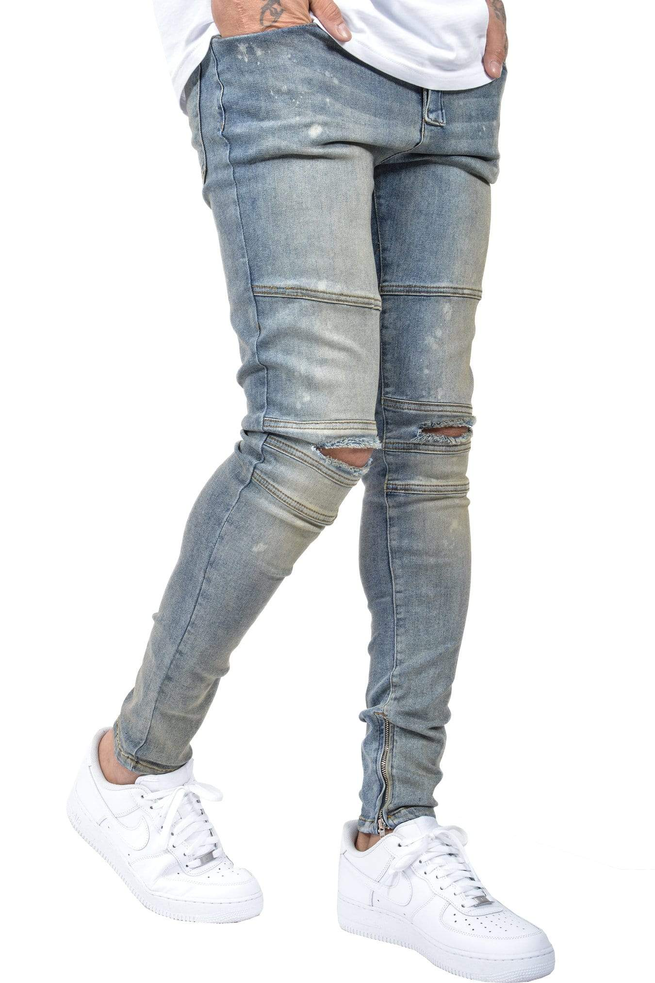 Thiago Denim Sand Washed Blue