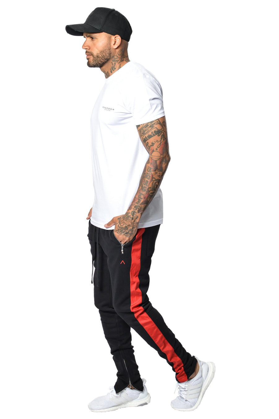 PEGADOR - Trevor Stripe Pants Black - PEGADOR - Dominate the Hype