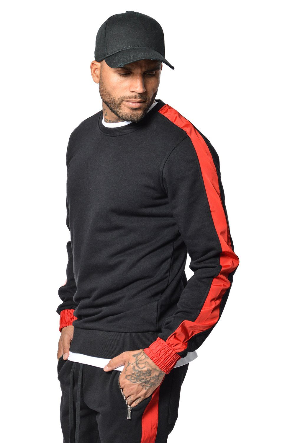 David Stripe Sweater Black - PEGADOR - Dominate the Hype