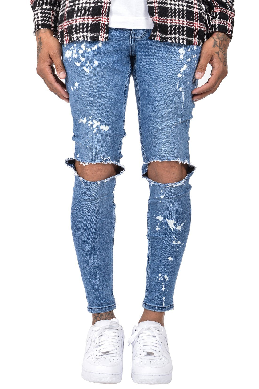 Saragossa Jeans Destroyed Mid Blue