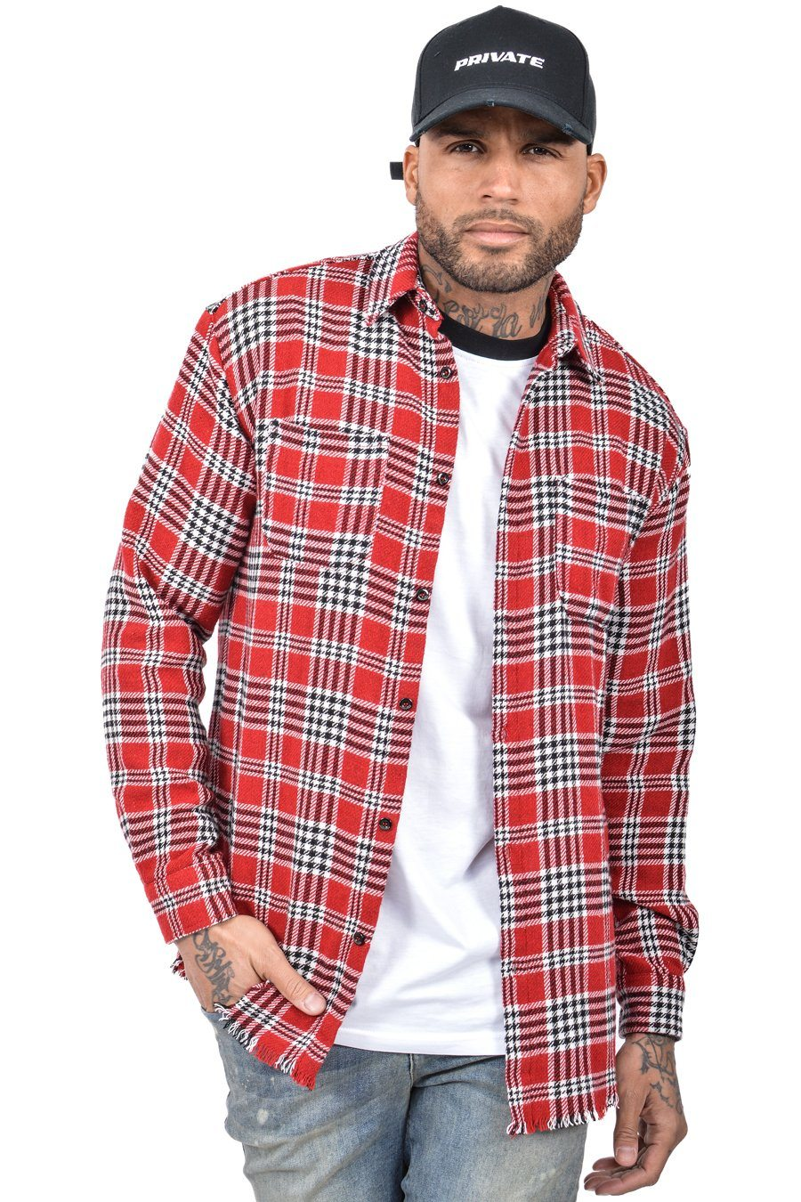 Leo Checkered Shirt Red