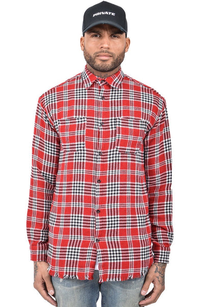 Leo Checkered Shirt Red - PEGADOR - Dominate the Hype