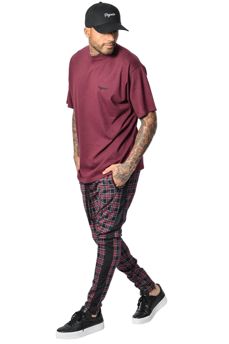 Benjamin Tartan Pants Black Red - PEGADOR - Dominate the Hype
