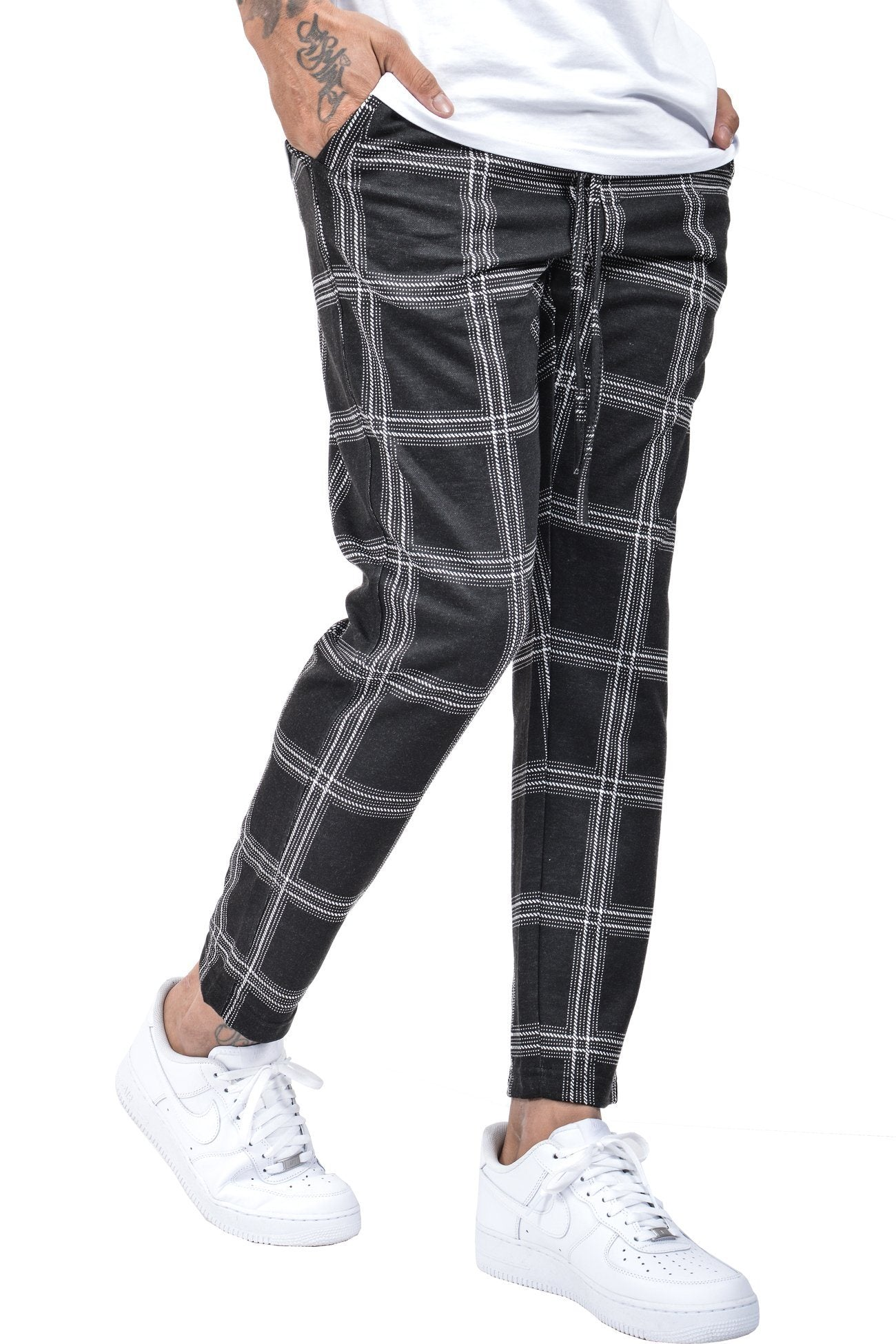 Luca Pants Black White