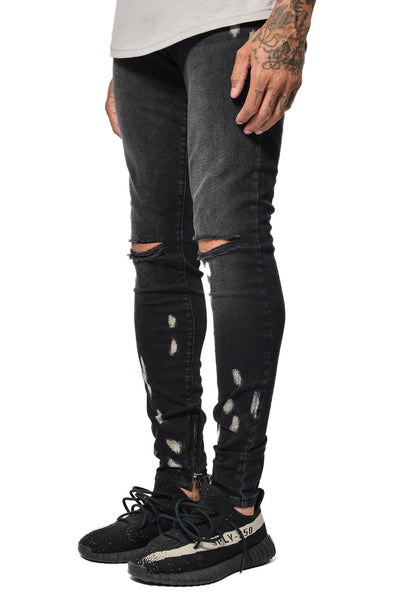PEGADOR - Bruno Bleached Denim Black - PEGADOR - Dominate the Hype