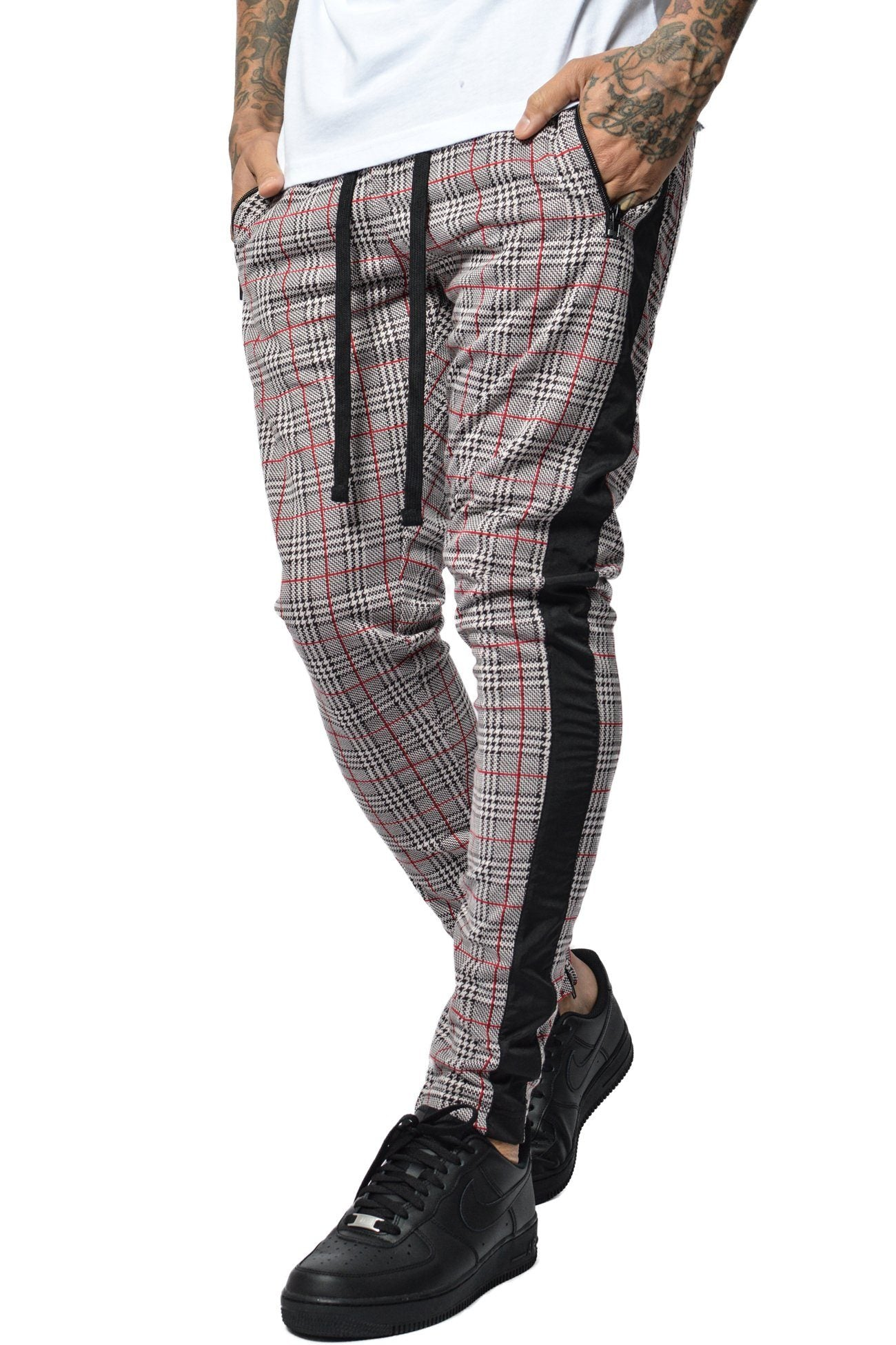 Benjamin Checkered Pants Black White Red - PEGADOR - Dominate the Hype