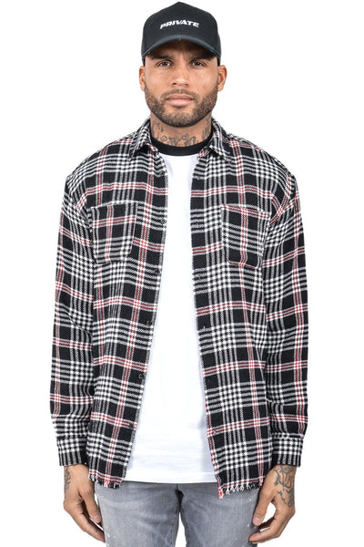 Leo Checkered Shirt Black