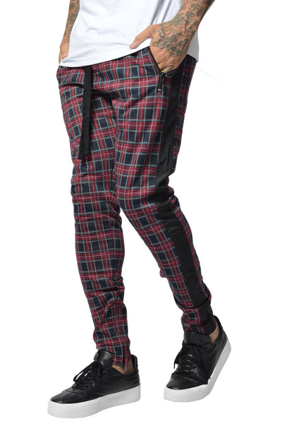 PEGADOR - Benjamin Tartan Pants Black Red - PEGADOR - Dominate the Hype